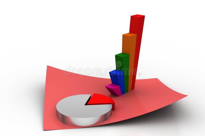 Gráfico de sectores con el gráfico ilustración del vector
