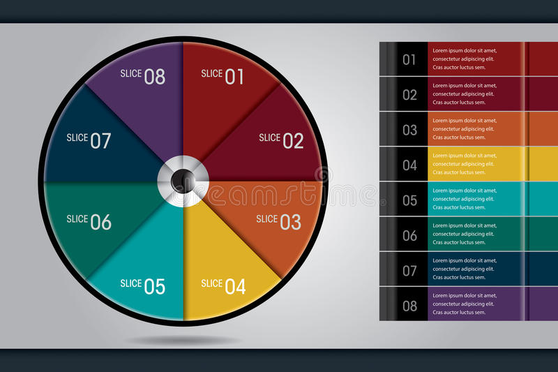 Gráfico de sectores creativo del vector de Infographic imagen de archivo