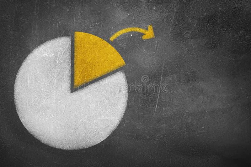 Gráfico de sectores de la pizarra foto de archivo libre de regalías
