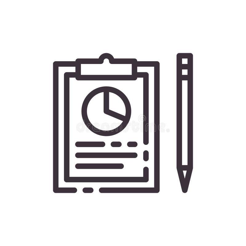 Gráfico de sectores en informe libre illustration