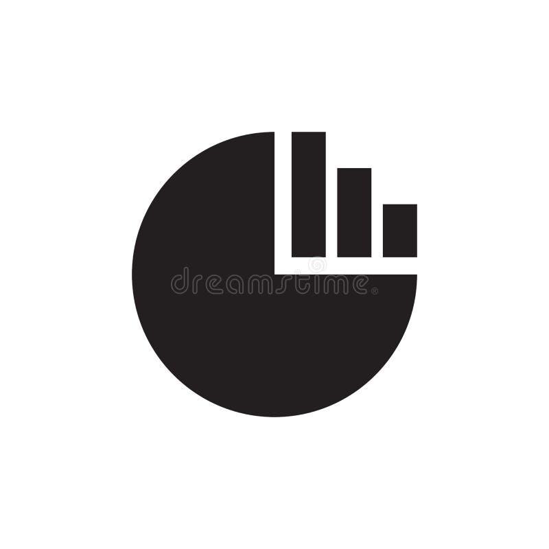 Gráfico de sectores - icono negro en el ejemplo blanco del vector del fondo para la página web, aplicación móvil, presentación, i ilustración del vector