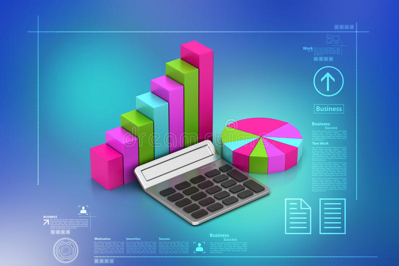 Gráfico de sectores y gráfico de barra libre illustration