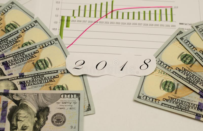 Gráfico de troca do crescimento da exposição dobro no negócio, fundo do investimento fotos de stock royalty free