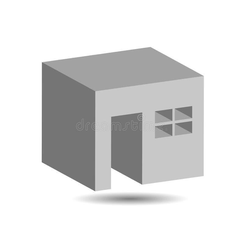 Gráfico de um espaço incluido ilustração stock