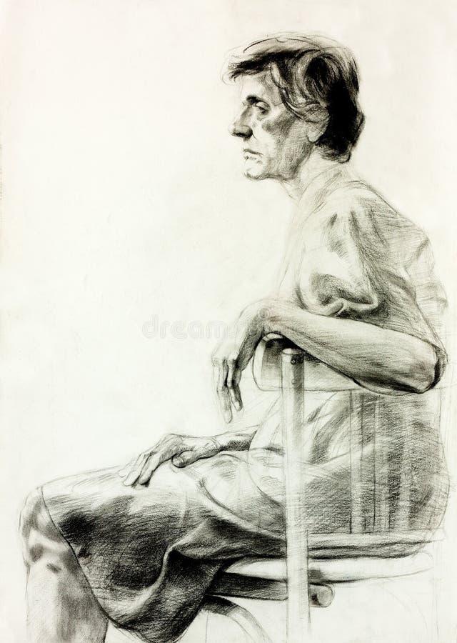 Gráfico de una mujer ilustración del vector