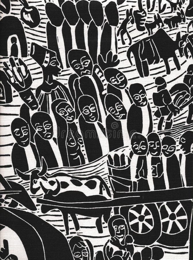 Gráfico de una población rústica africana imagenes de archivo
