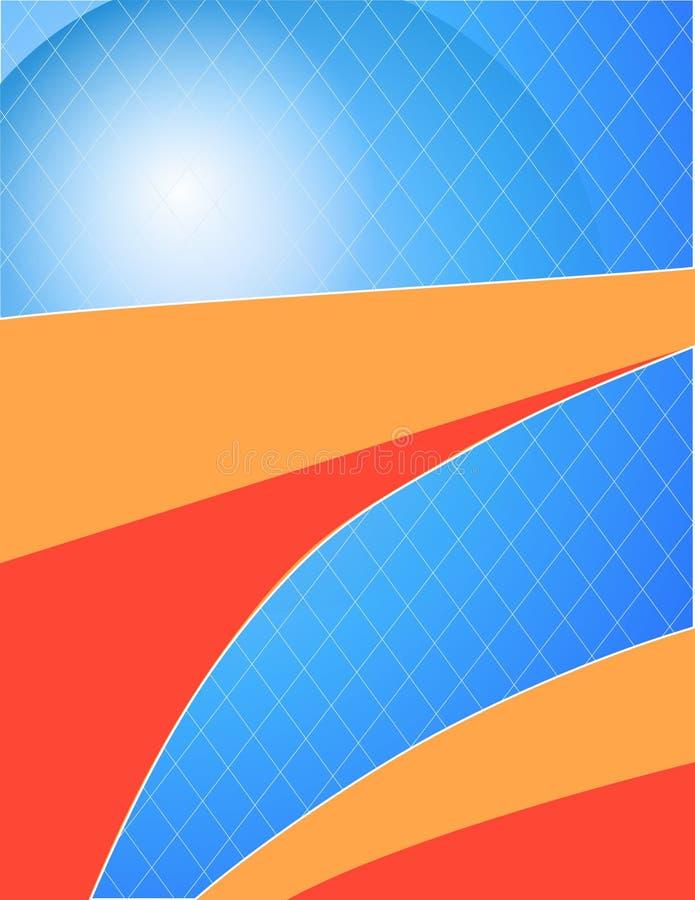 Gráfico de vetor bold(realce) da grade ilustração royalty free