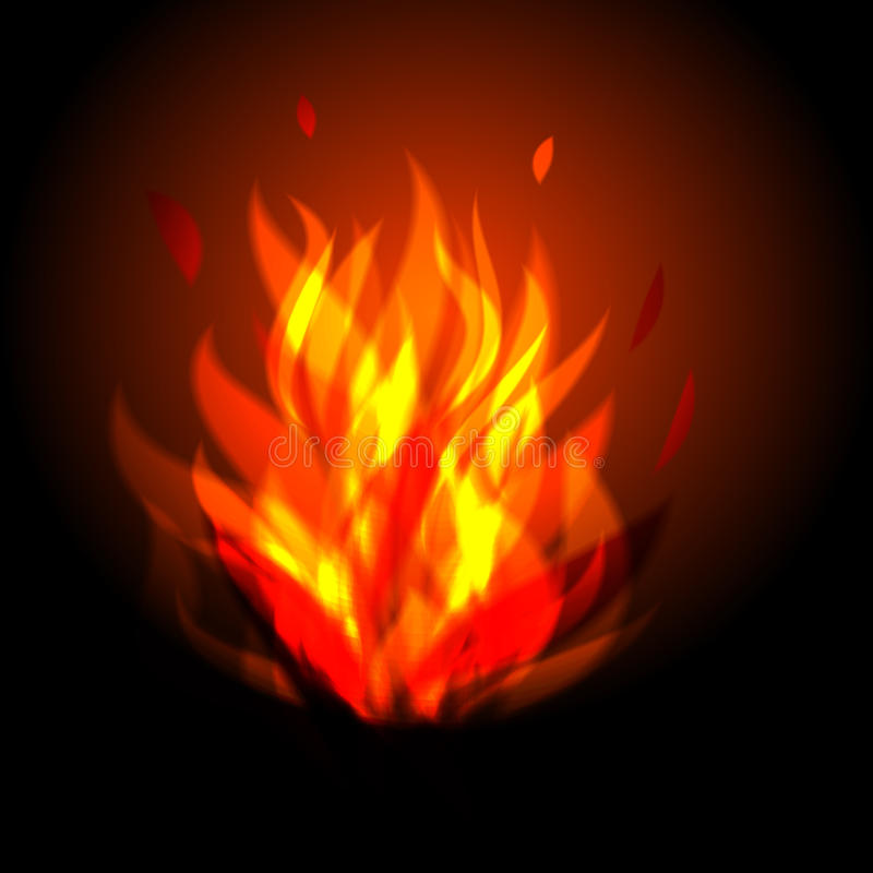 Gráfico de vetor do fogo do acampamento fotografia de stock royalty free