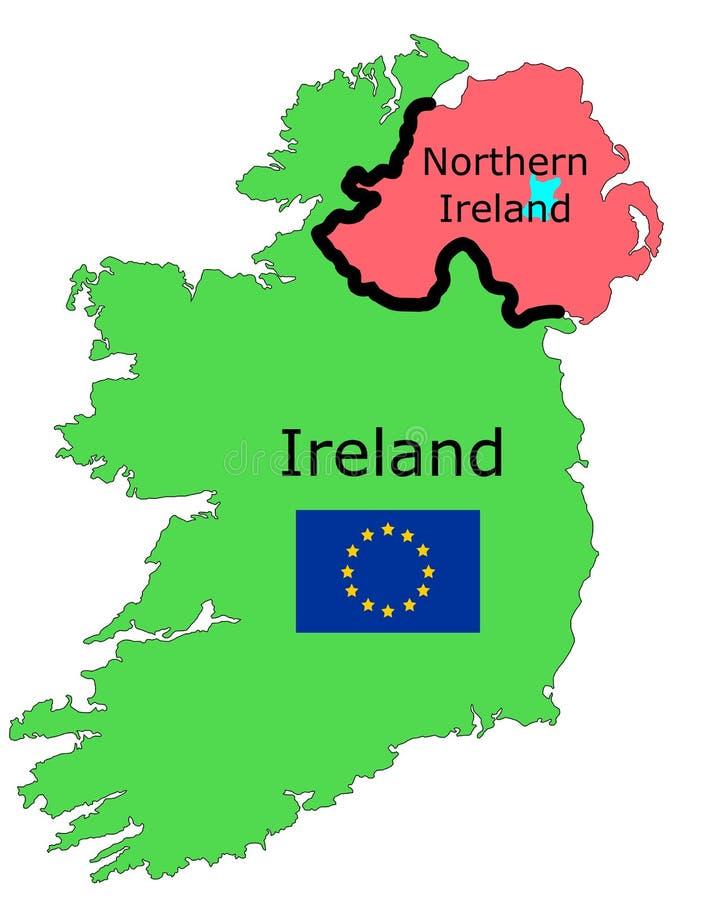 Gráfico de vetor que ilustra a beira na Irlanda com UE fotografia de stock royalty free