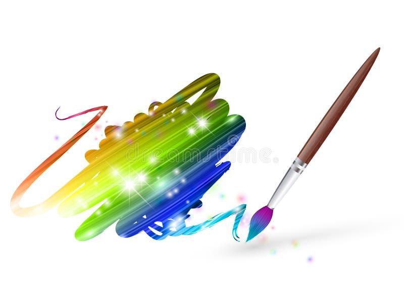 Gráfico del arco iris ilustración del vector