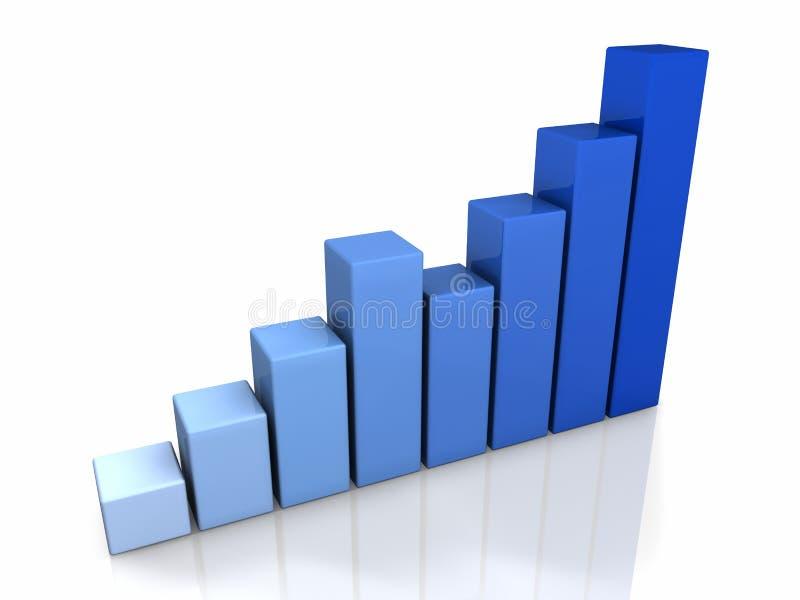 gráfico del azul 3D stock de ilustración