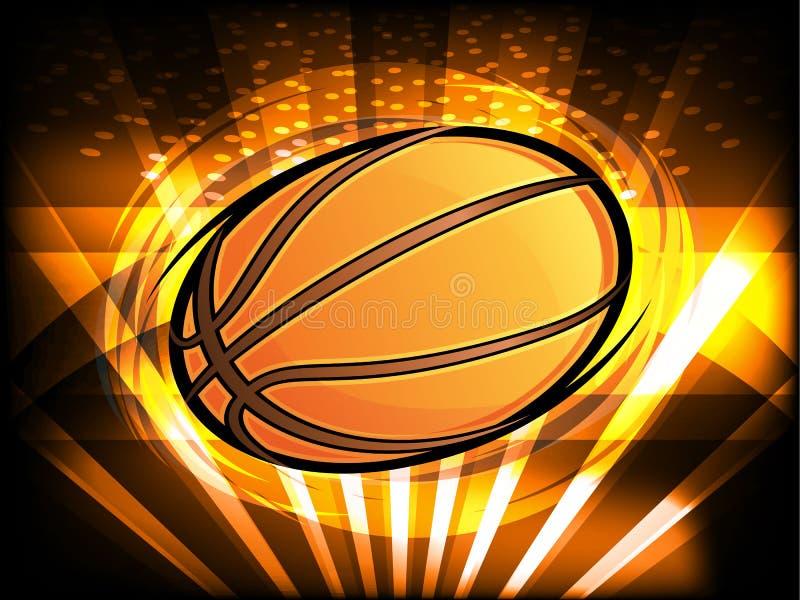 Gráfico del baloncesto ilustración del vector