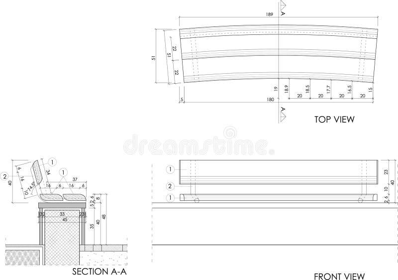 Gráfico del banco de madera fotografía de archivo libre de regalías
