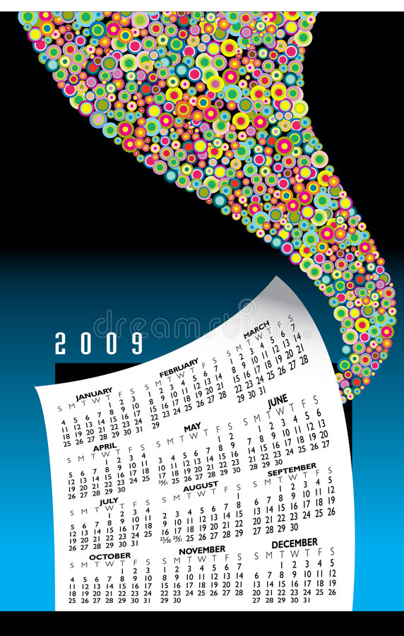 Gráfico del calendario 2009 libre illustration