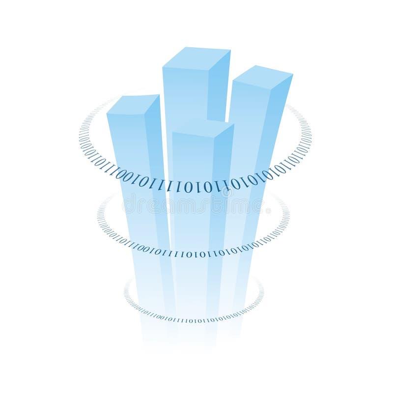 Gráfico del comercio electrónico stock de ilustración