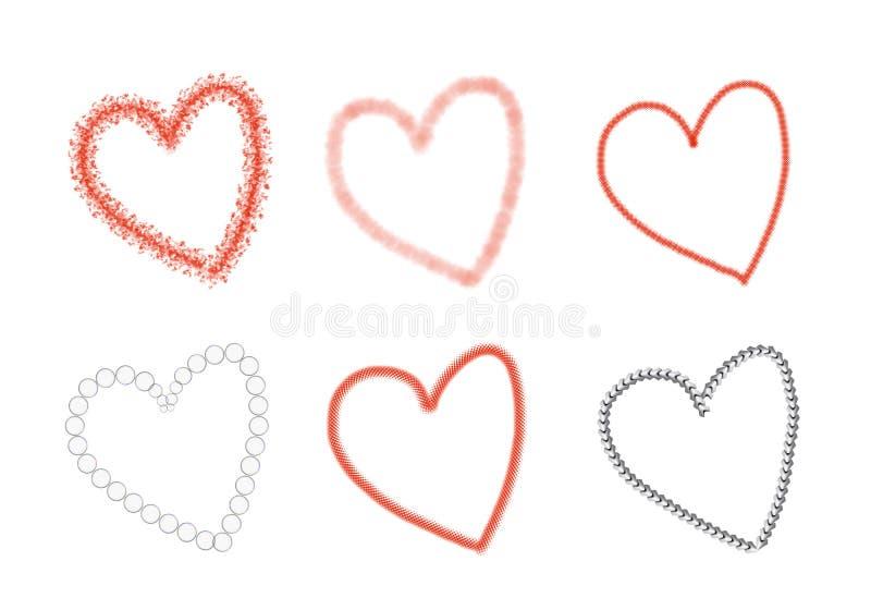 Gráfico del corazón stock de ilustración