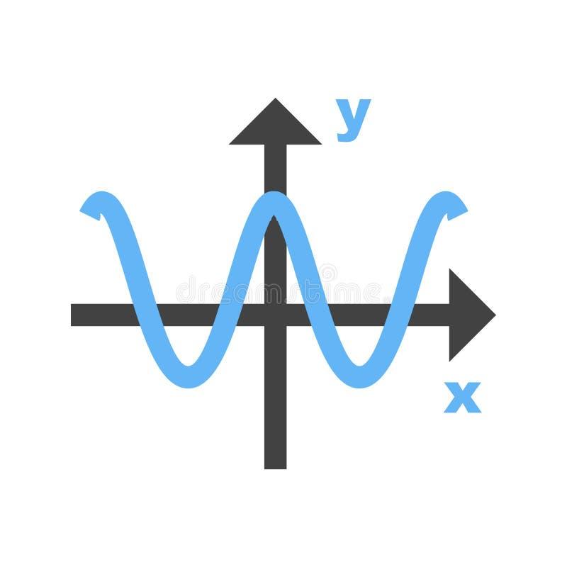 Gráfico del coseno stock de ilustración