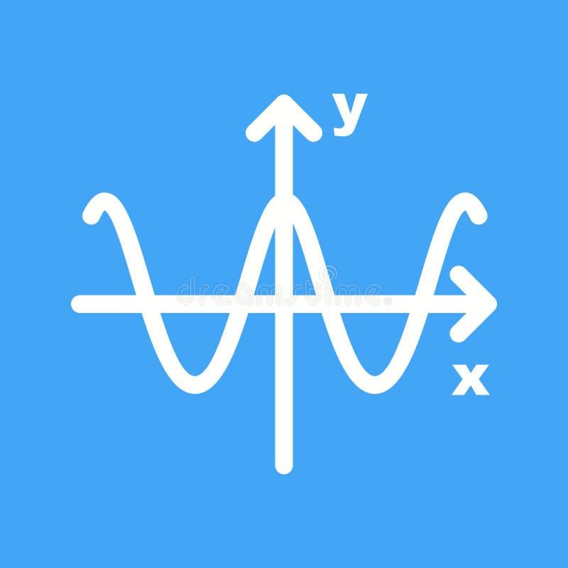Gráfico del coseno ilustración del vector