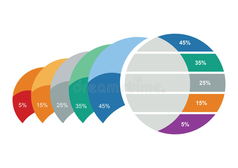 Gráfico del desarrollo stock de ilustración