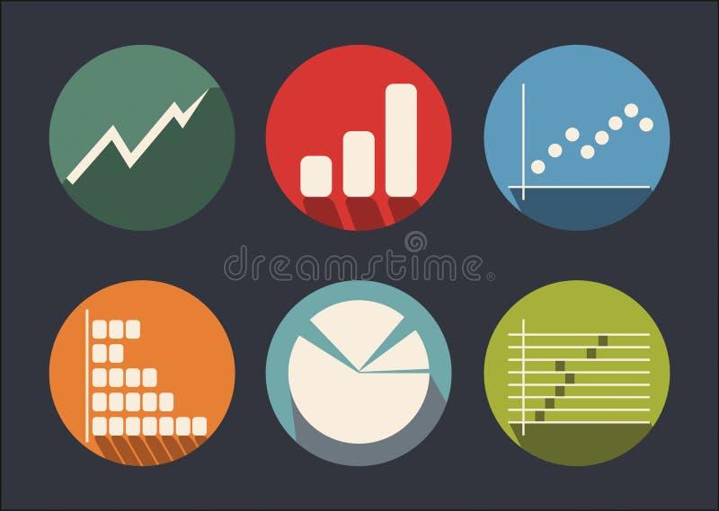 Gráfico del desarrollo, sistema del icono stock de ilustración