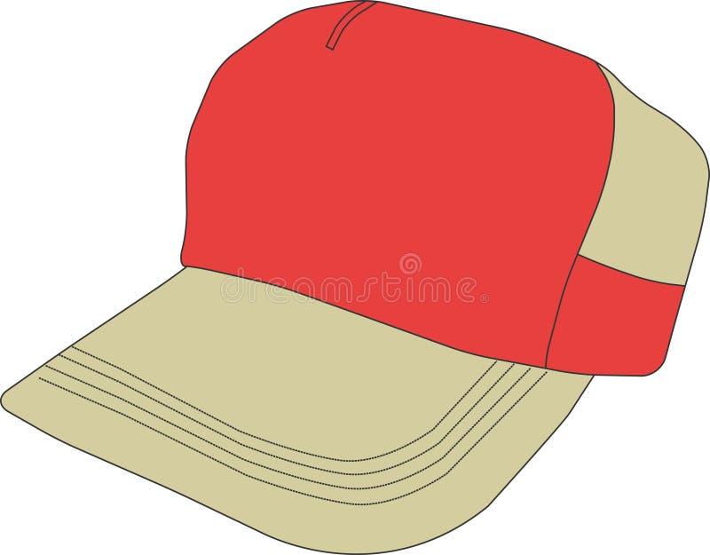 Gráfico del diseño de Clipart del vector de la gorra de béisbol ilustración del vector