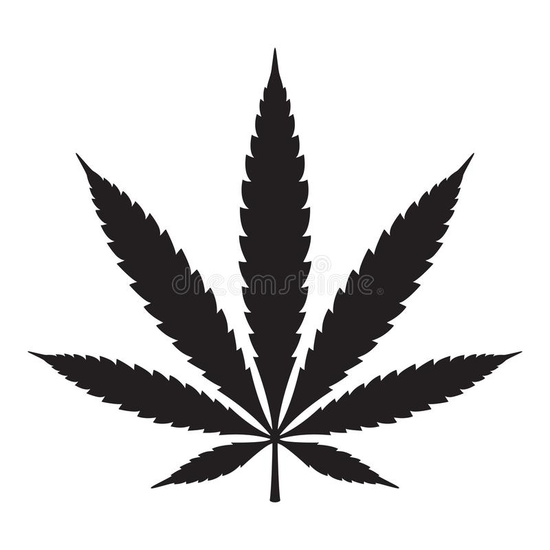 Gráfico del ejemplo de la muestra del símbolo del logotipo del icono de la mala hierba de la hoja del cáñamo del vector de la mar libre illustration