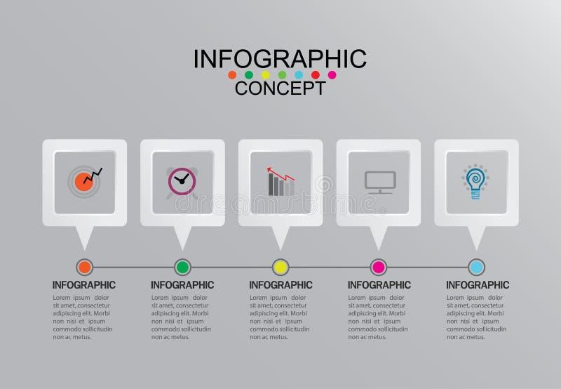 Gráfico gráfico del ejemplo del vector de la plantilla de la información del negocio encendido foto de archivo