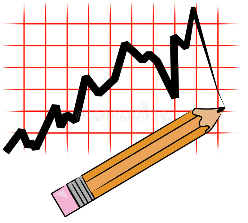 Gráfico del gráfico de lápiz ilustración del vector