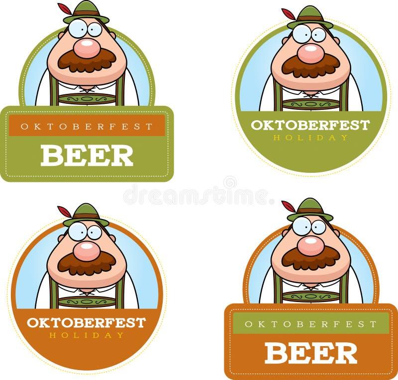 Gráfico del hombre de Oktoberfest de la historieta stock de ilustración