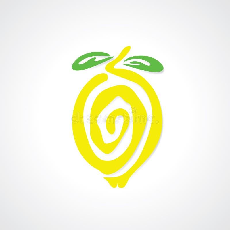 Gráfico del limón ilustración del vector