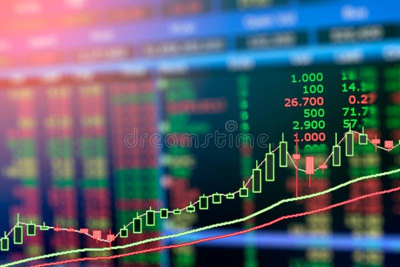 Gráfico del mercado de acción, exposición doble fotografía de archivo