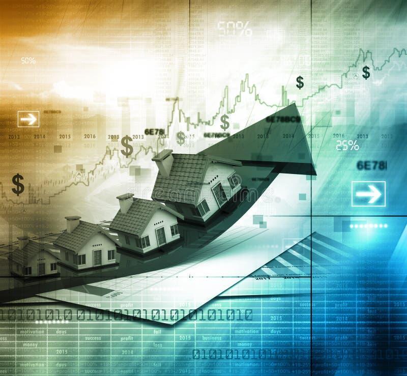 Gráfico del mercado inmobiliario libre illustration