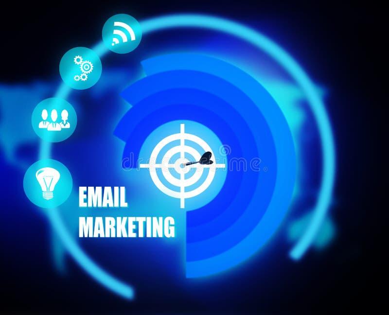 Gráfico del plan de concepto del márketing del correo electrónico ilustración del vector