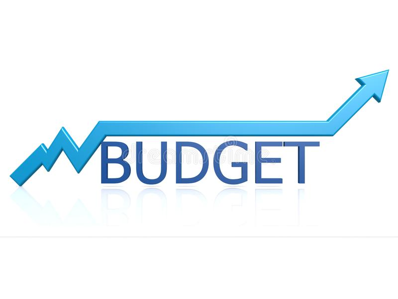 Gráfico del presupuesto libre illustration