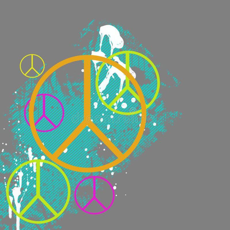 Gráfico del símbolo de paz stock de ilustración