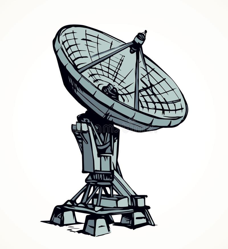 Gráfico del vector Antena de plato stock de ilustración