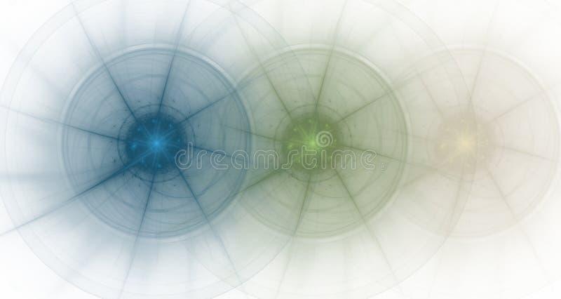 Gráfico - desvanecimento de 3 rodas ilustração stock