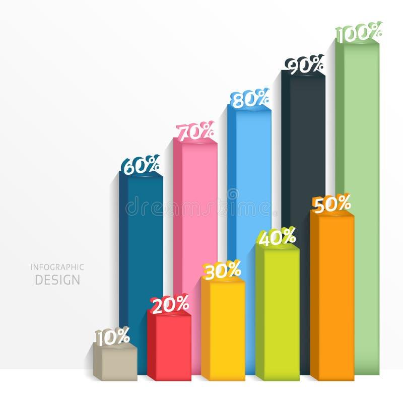 Gráfico digital abstrato da ilustração 3D A ilustração do vetor pode ser usada para a disposição dos trabalhos, diagrama, opções  ilustração do vetor