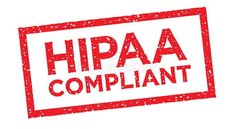 Gráfico do ícone da conformidade de HIPAA ilustração stock