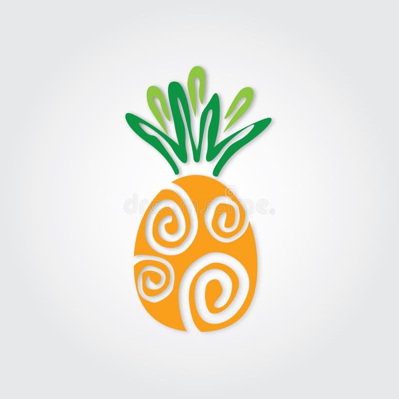 Gráfico do abacaxi ilustração stock