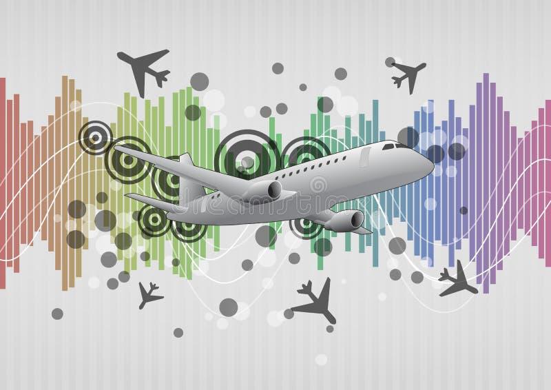 Gráfico do avião ilustração royalty free
