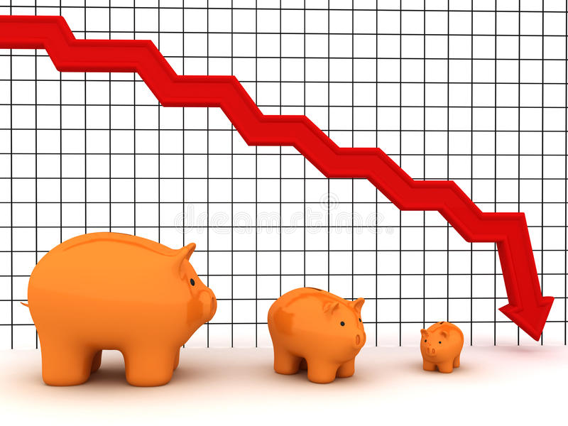 Gráfico do banco Piggy ilustração royalty free