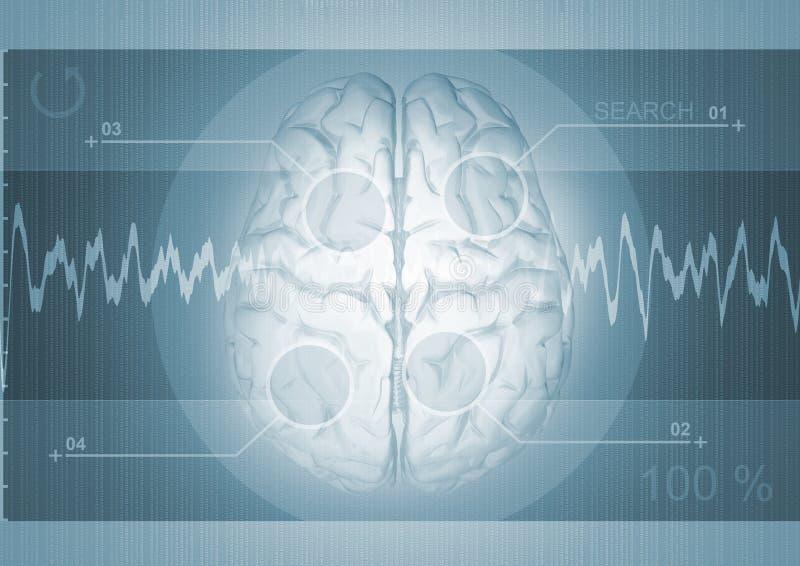 Gráfico do cérebro ilustração stock