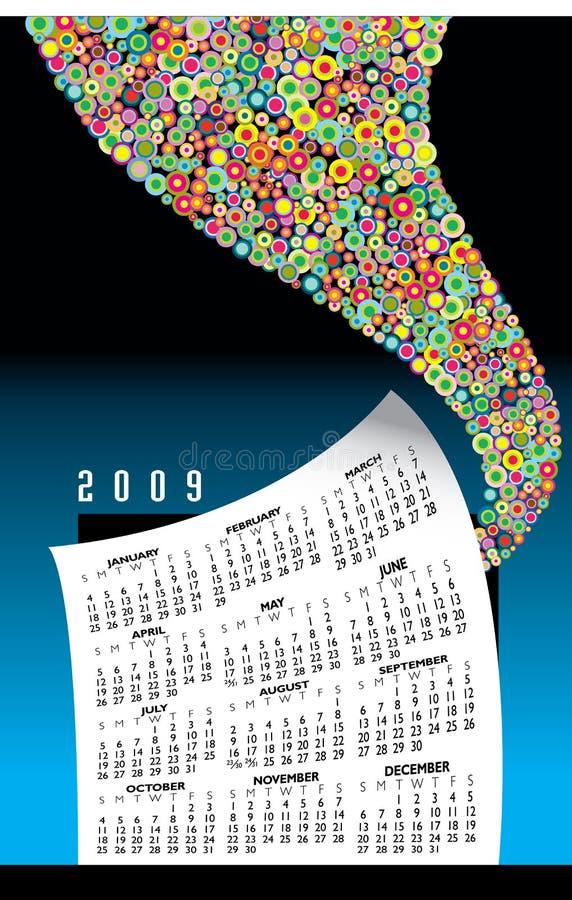 Gráfico do calendário 2009 ilustração royalty free