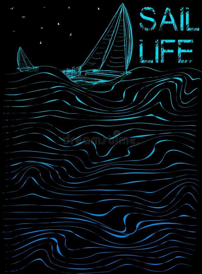 Gráfico do cartaz da vida da vela ilustração do vetor