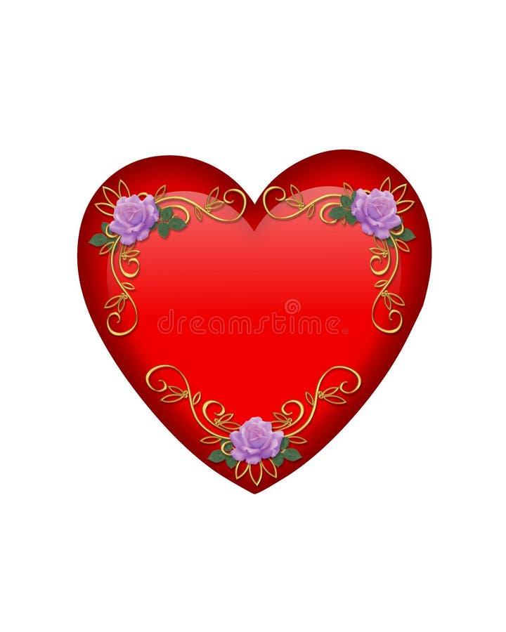 Gráfico do coração do Valentim isolado ilustração do vetor