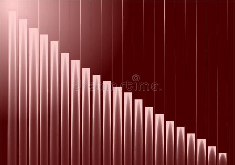 Gráfico do crescimento ilustração royalty free