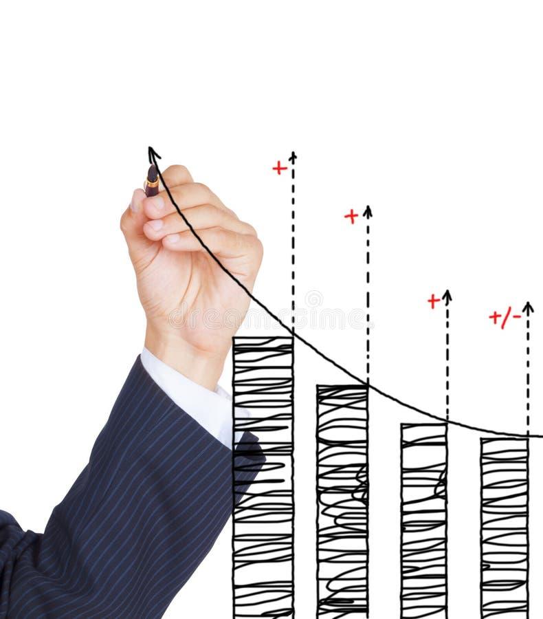 Gráfico do desenho da mão fotos de stock