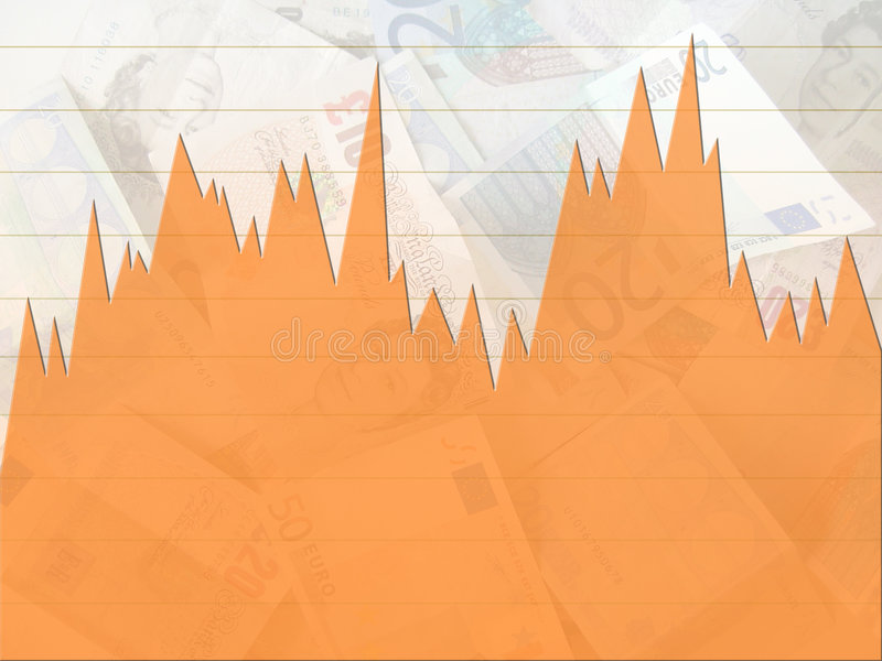 Gráfico do dinheiro ilustração do vetor