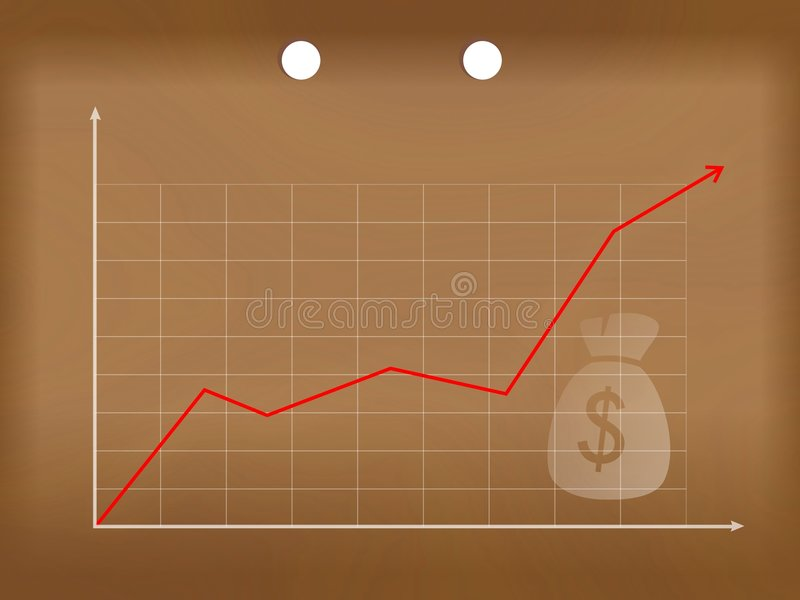 Gráfico do dinheiro do negócio ilustração stock